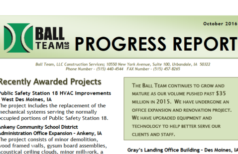October 2016 Progress Report
